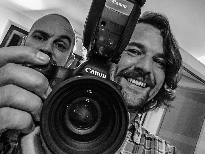 I'm Lee, on the right, Wedding Photographer Liverpool